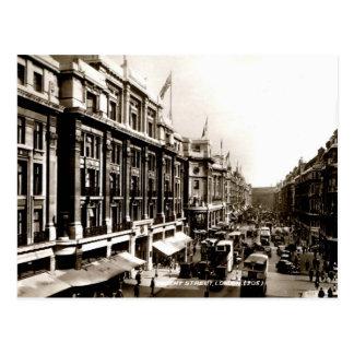 Busy Regent Street London England vintage photo Postcard