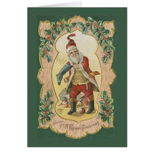 Busy Santa Christmas Card