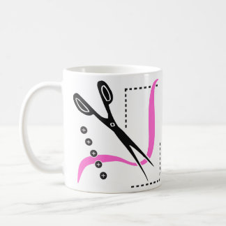 Busy Scissors, Thread and Buttons Sewing Theme Classic White Coffee Mug