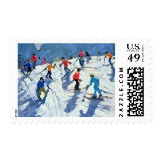 Busy Ski Slope Lofer 2004 Postage