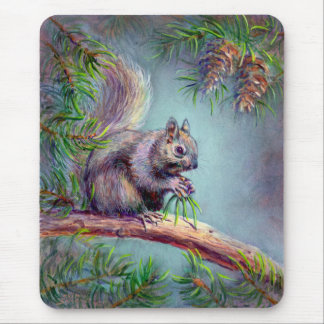 BUSY SQUIRREL by SHARON SHARPE Mouse Pad