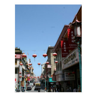Busy Street in Chinatown San Francisco Post Card