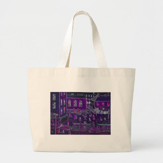 BUSY STREET LIFE LARGE TOTE BAG