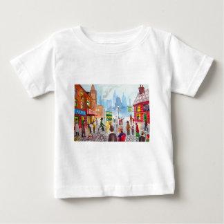 Busy street scene penny farthing tram Gordon Bruce Baby T-Shirt