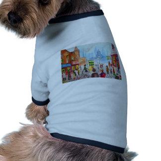 Busy street scene penny farthing tram Gordon Bruce Doggie Tee Shirt