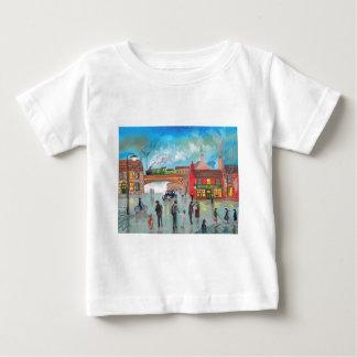 Busy street scene train Gordon Bruce art Baby T-Shirt