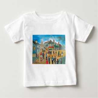 Busy street scene victorian rag and bone man baby T-Shirt