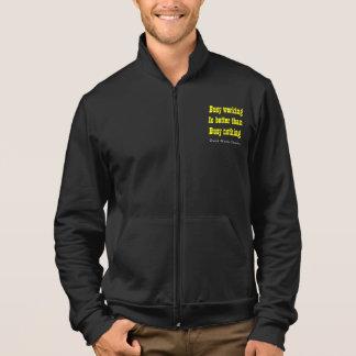 busy work slogan printed jacket