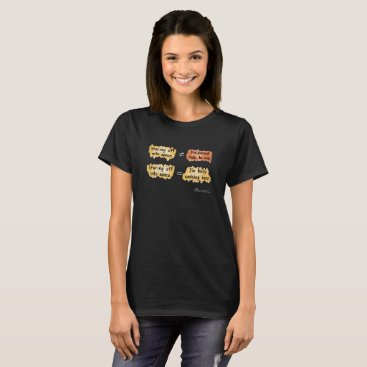 Professional Business Busy Working Women's Black T-Shirt (D on Front)