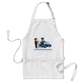 But Cops Love Donuts Adult Apron