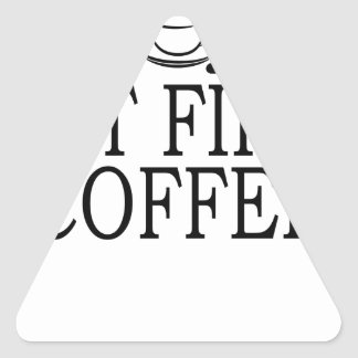 But First Coffee Coffe Lover T-Shirt.png Triangle Sticker