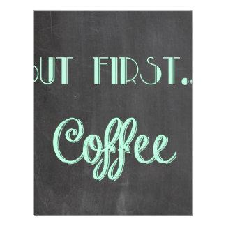 but first...coffee faux chalkboard letterhead