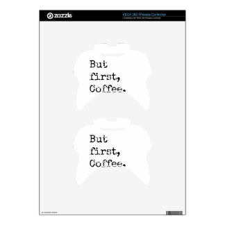 But First Coffee Xbox 360 Controller Skins