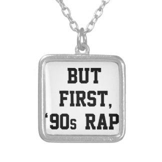 But First Rap Silver Plated Necklace