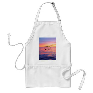 """""""But for the Grace of God."""" Adult Apron"""