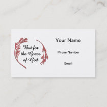 But for the Grace of God Business Card