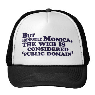 But Honestly Monica, The Web Is Considered .... Trucker Hat