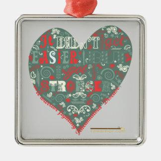 But I got Stronger. Square Metal Christmas Ornament