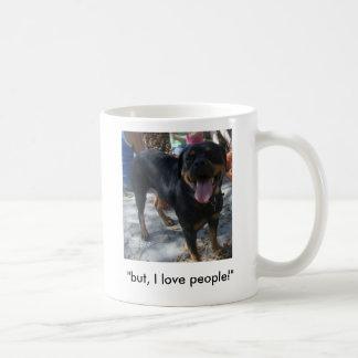 """but, I love people!"" Coffee Mug"