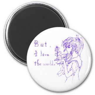 But I love the world blue [manga girl] Magnet
