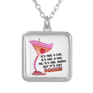 ... but it's got BOOZE! Silver Plated Necklace
