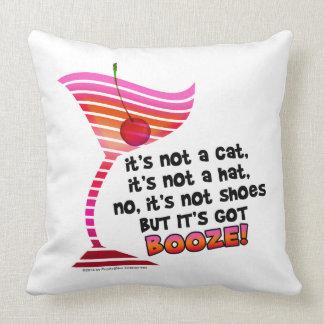 ... but it's got BOOZE! Throw Pillows