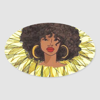 But The Hood Loves Me Oval Sticker