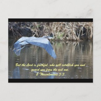 But the Lord is faithful, who will establish you a postcard