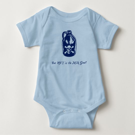 But WHY is the Milk Gone? Boy's Baby Bodysuit