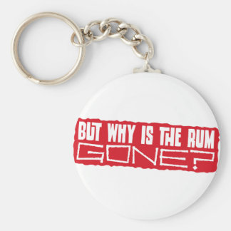 But why is the rum gone? basic round button keychain