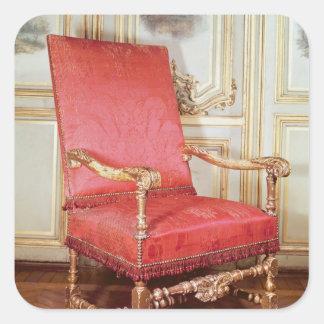 Butaca de Louis XIII Pegatina Cuadrada