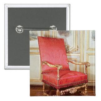Butaca de Louis XIII Pin Cuadrado