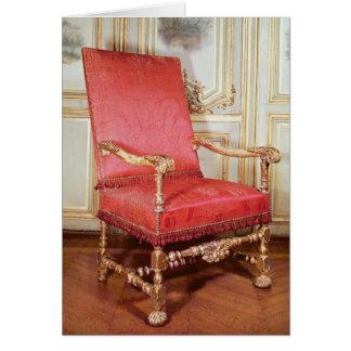 Butaca de Louis XIII Tarjeta De Felicitación