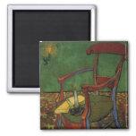 Butaca de Van Gogh Paul Gauguin, arte del vintage Imán Para Frigorífico