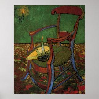 Butaca de Van Gogh Paul Gauguin, arte del vintage Posters