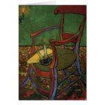 Butaca de Van Gogh Paul Gauguin, arte del vintage Felicitaciones