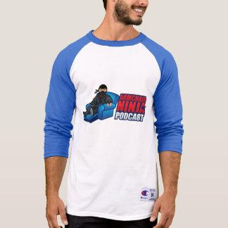 Butaca Ninja 3/4 camiseta del raglán de la manga Playeras