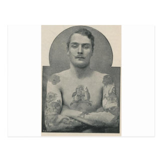 Butch Bruce, the tattooed Australian sailor Postcard
