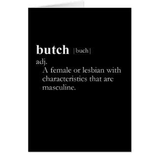 BUTCH (definition) Card