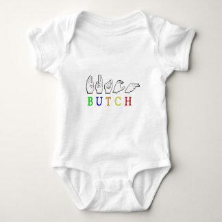 BUTCH FINGERSPELLED ASL NAME SIGN BABY BODYSUIT