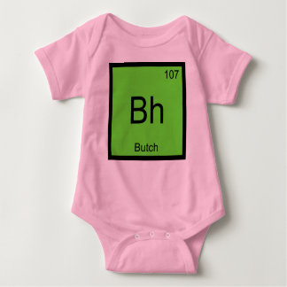 Butch Name Chemistry Element Periodic Table Baby Bodysuit