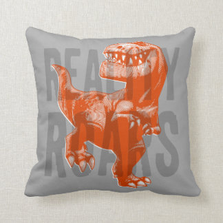 Butch Reality Roars Throw Pillow