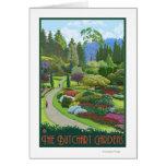 Butchart Gardens - Brentwood Bay Greeting Card