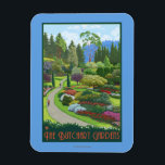 """Butchart Gardens - Brentwood Bay Magnet<br><div class=""""desc"""">Butchart Gardens - Brentwood Bay,  British Columbia,  Canada - LP Original Poster -   was created in 2008. This image depicts scenes from Brentwood Bay,  British Columbia,  Canada.</div>"""