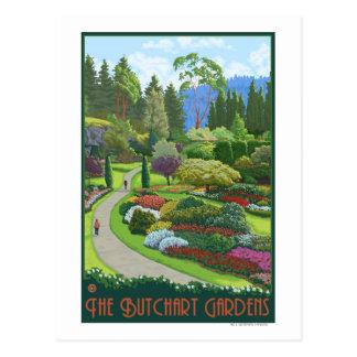 Butchart Gardens - Brentwood Bay Postcard