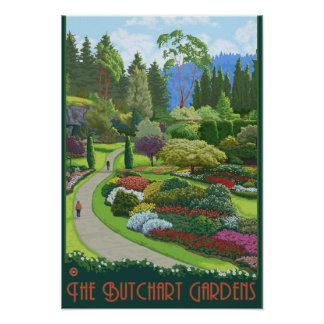 Butchart Gardens - Brentwood Bay Poster