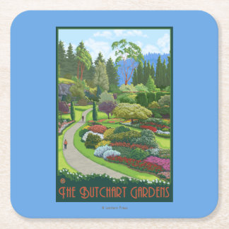 Butchart Gardens - Brentwood Bay Square Paper Coaster