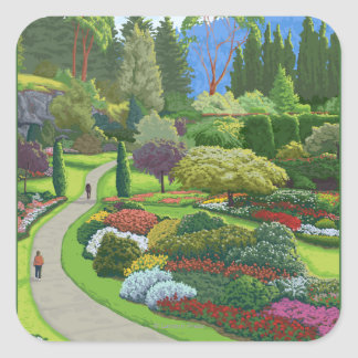 Butchart Gardens - Brentwood Bay Square Sticker