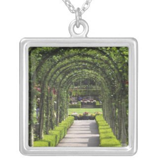 Butchart Gardens, Victoria, B.C., Canada Silver Plated Necklace