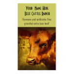 Butcher, Auction or Farm Feed Mills Double-Sided Standard Business Cards (Pack Of 100)